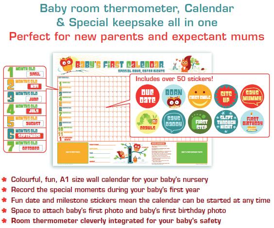 Baby's First Calendar Aylesbury 1 Welbeck Avenue HP21 9BH 07761403437